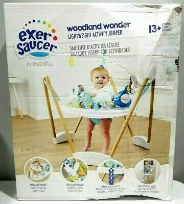Evenflo Exersaucer Lightweight Activity Jumper, Woodland Wonder - New Open Box
