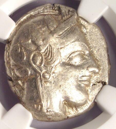 Ancient Athens Greece Athena Owl Tetradrachm Coin (440-404 BC) - NGC XF!