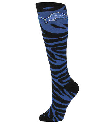 Detroit Lions NFL For Bare Feet Womens Zebra Knee High Socks- SZ M