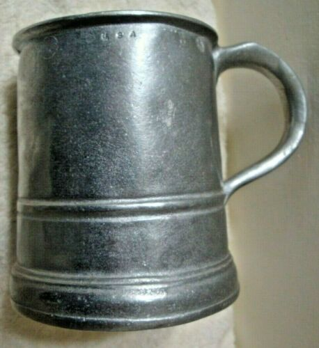 Vintage Wilton Armetale Distressed Beer Stein Mug 18-oz USA