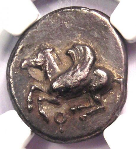 Corinthia Corinth AR Stater Coin (515-450 BC) Pegasus & Athena - NGC VF
