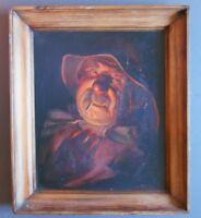 Excelente Cuadro Luis Montague - El Fumador - Retrato Pescador - Aceite -  - ebay.es