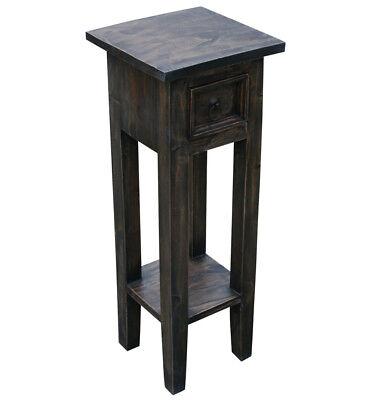 Braun Holz Beistelltisch (KMH® Telefontisch Telefonkonsole Blumentisch Beistelltisch Tisch Holz braun)