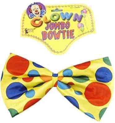 Polka Dot Jumbo Foam Bow Tie Clown Circus Halloween Adult Costume Accessory Bow Tie Jumbo Polka Dot