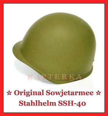 ☆ ORIGINAL ☭ UdSSR RUSSISCHE ROTE SOWJET ARMEE STAHLHELM HELM SSh-40 / СШ-40 ☆