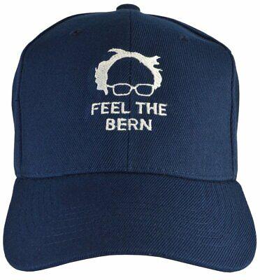 Feel the Bern Hat Navy Blue Bernie Sanders