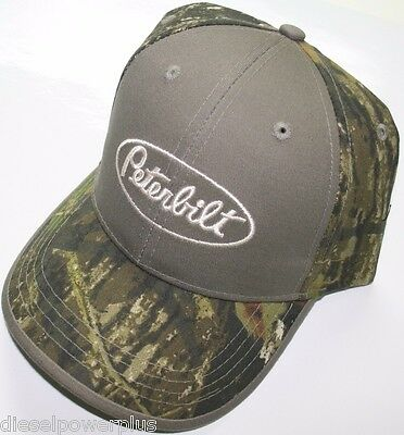Peterbilt Real Mossy Oak Tree Camo Ball Cap Hat Truck Trucker Cat Diesel Gear