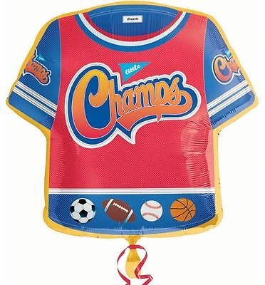 Little Champs Jersey Sports Birthday Party Decoration SuperShape Mylar Balloon
