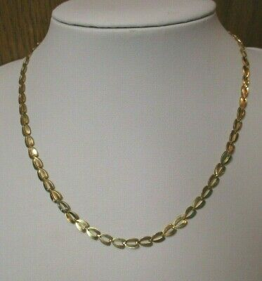 14K Yellow Gold Fancy Link Chain Necklace 16