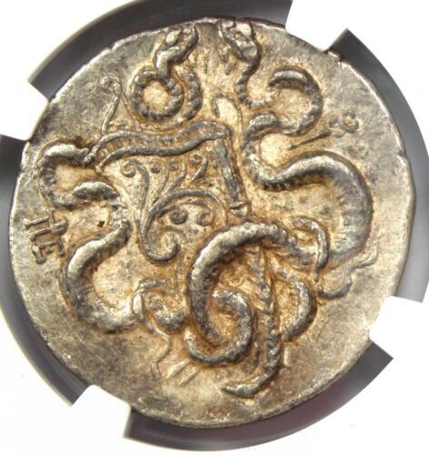 Mysia Pergamum AR Cistophorus Silver Snakes Coin 180-133 BC - Certified NGC XF