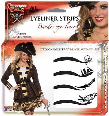 Buccaneer Beauty Eyeliner Makeup Pirate Fancy Dress Halloween Costume Accessory - Halloween Beauty Makeup