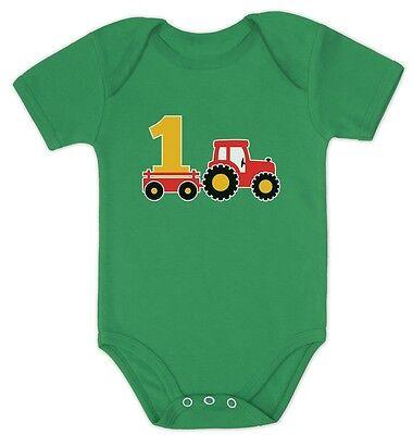 One Year Old Boy Birthday Gift 1st Birthday Tractor Baby Bod
