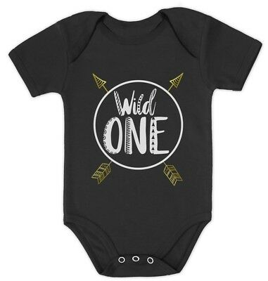 Wild One Baby Boys Girls 1st Birthday Gifts One Year Old Baby Bodysuit Party