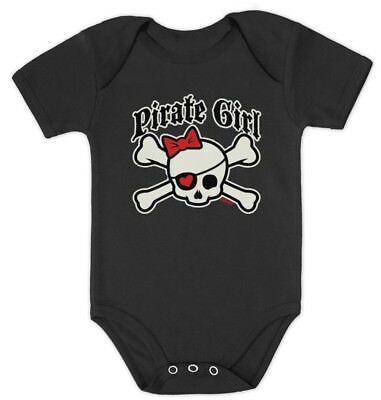Pirate Girl Baby Bodysuit Cute Girl Punk Costume Girl BABYGROW Shower Gift Skull - Baby Punk Costume