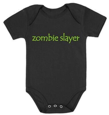Zombie Slayer Baby Bodysuit BABYGROW Shower Gift Xmas gift Idea Clothing](Baby Zombie Clothes)