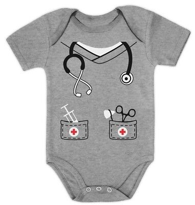 Infant Doctor, Physician, Nurse Costume Halloween Cute Baby Bodysuit Gift Idea