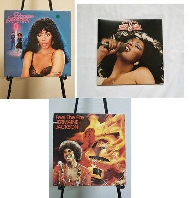 Disco 70s lot x 3 albums Donna Summer & Jermaine Jackson Vinyl LP - Donna Summer 70s