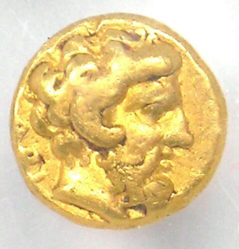 Cyrenaica Cyrene AV Gold 1/10th Stater Coin 331-313 BC - Certified NGC Choice VF