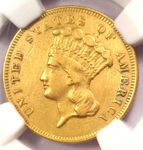 1865 Three Dollar Indian Gold Coin $3 - Certified NGC XF Details - Rare Date!