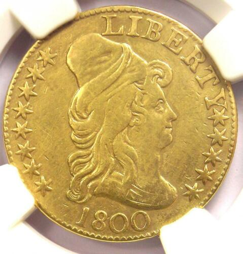 1800 Capped Bust Gold Half Eagle $5 - Certified NGC XF Details - Rare Coin!