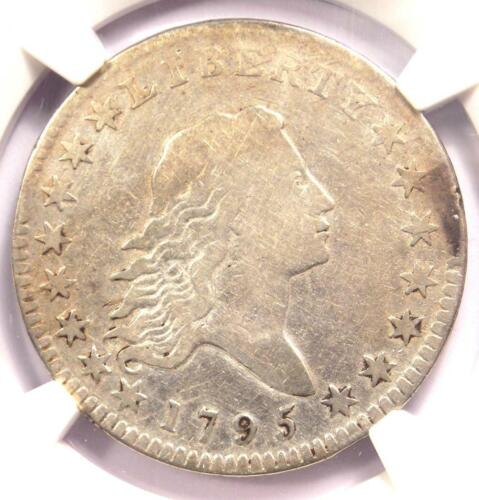1795 Flowing Hair Bust Half Dollar 50C - Certified NGC Fine Detail - Rare Coin!