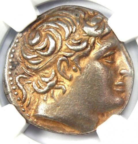 Macedon Demetrius I Poliorcetes AR Tetradrachm Coin 306-283 BC - NGC Choice XF