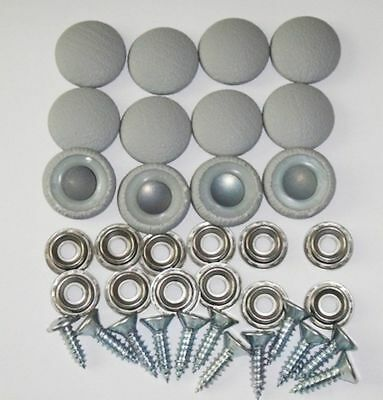 25 Dura Snap Upholstery Buttons Platinum Gray Choice Of Size And Screws