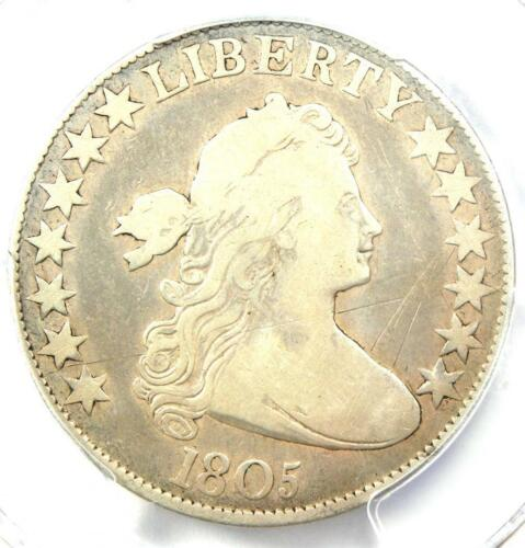 1805 Draped Bust Half Dollar 50C Coin - Certified PCGS VG Details!