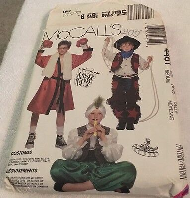 Kid Boxer Halloween Costumes (McCall's Pattern Halloween Kids Costume Size Medium Boxer Cowboy Pirate Army)