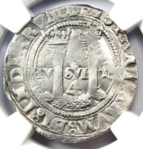 1542-1555 Mexico 4 Reales Carlos and Joanna Coin 4R - Certified NGC VF Details
