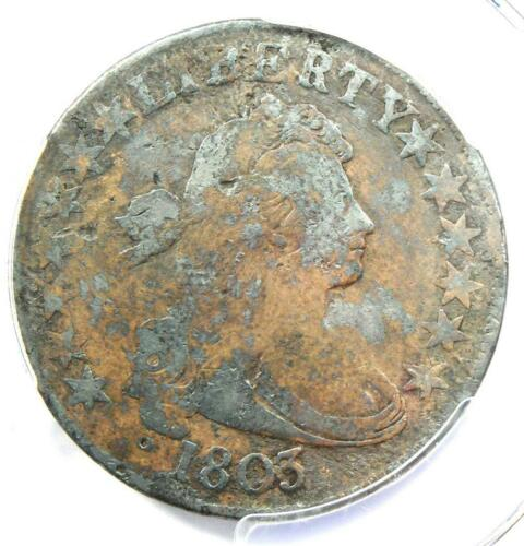 1803 Draped Bust Half Dollar 50C with Small 3 - PCGS Fine Details - Rare Coin!