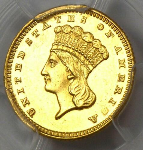 1872 Indian Gold Dollar (G$1 Coin) - PCGS Uncirculated Detail (UNC MS) - Rare!