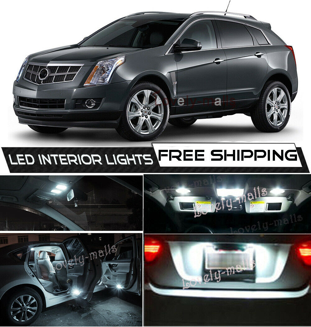 For 2010 2016 Cadillac Srx White Led Interior Lights Package Kit Bulbs Lamp O5