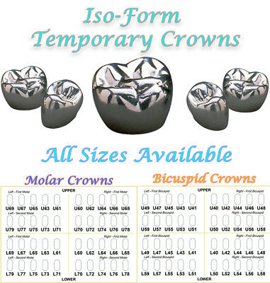 Iso Form Temporary Dental Crowns 5pk By 3m-espe