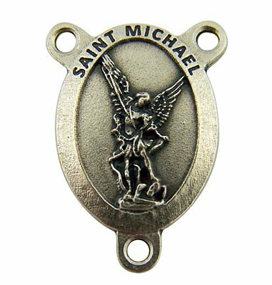 Catholic Patron Saint Michael the Archangel Pray for Us Rosary Centerpiece,1Inch