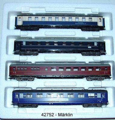 Märklin 42752- Persons Car Set Express Train Wagon New Boxed