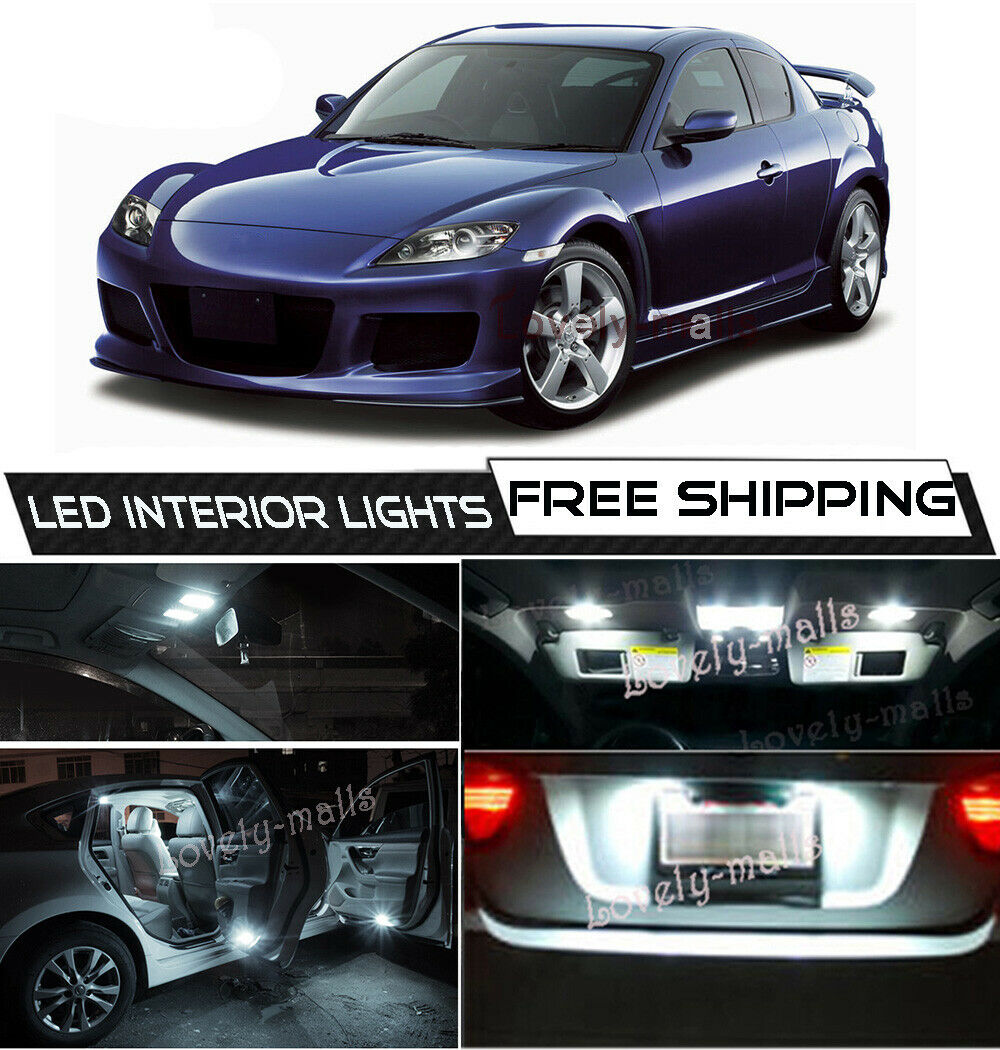 Interior Ceiling LED SMD Bulbs KIT GREEN CAN BUS fit Mazda RX-8  2003-2011