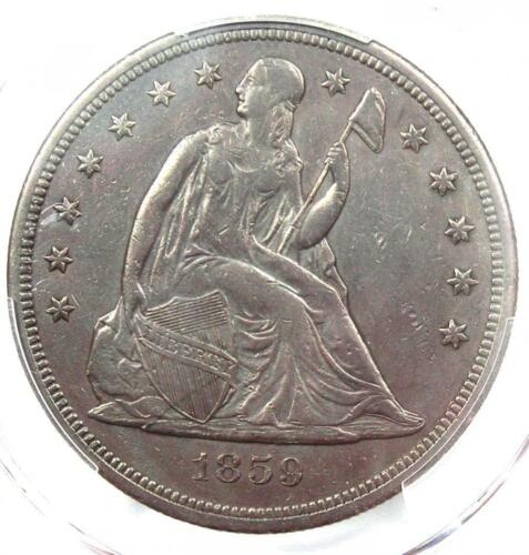 1859-S Seated Liberty Silver Dollar $1 Coin - PCGS XF Details - Rare S Mint!