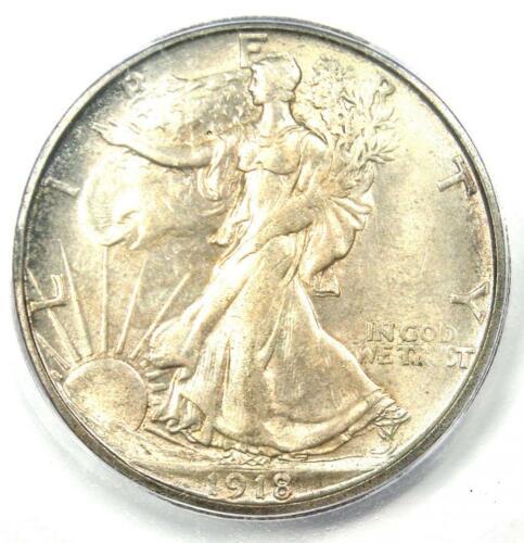 1918-S Walking Liberty Half Dollar 50C Coin - ICG MS63 - Rare Date - $1940 Value