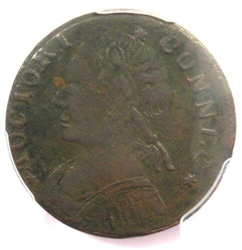1788 Mailed Bust Left Connecticut Colonial Copper Coin - PCGS XF Details (EF)!