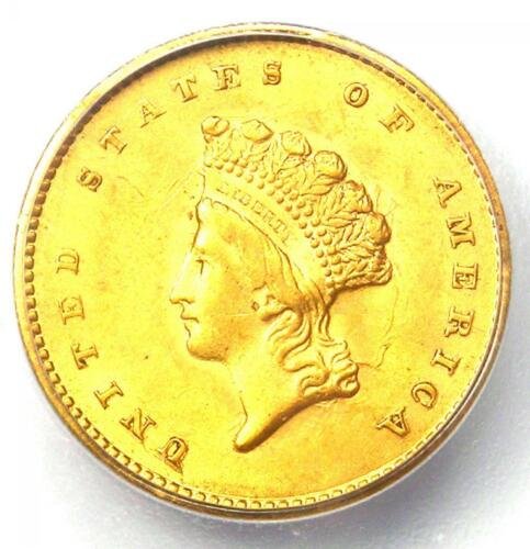 1855 Type 2 Indian Gold Dollar (G$1 Coin) - ICG MS62 (UNC BU) - $1,940 Value!