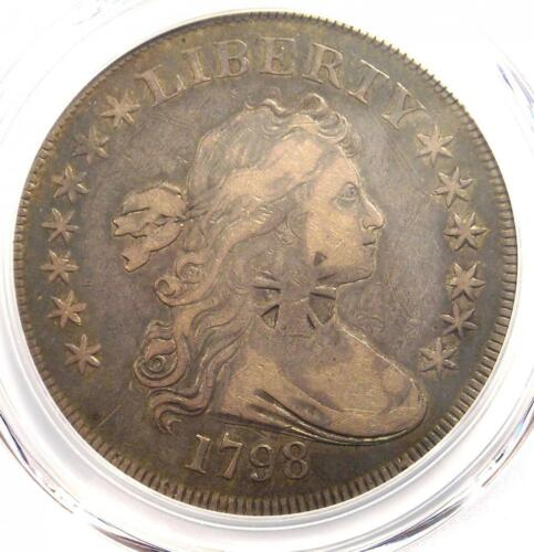 1798 SMALL Eagle Draped Bust Silver Dollar $1 - PCGS VF Details - Rare Variety!