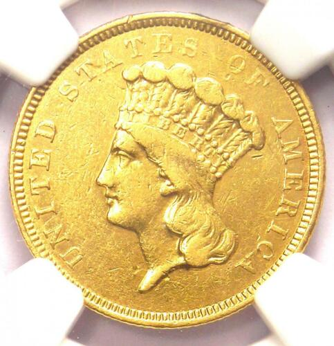 "1854-O Three Dollar Indian Gold Coin $3 - NGC AU Details - Rare ""O"" Mint!"