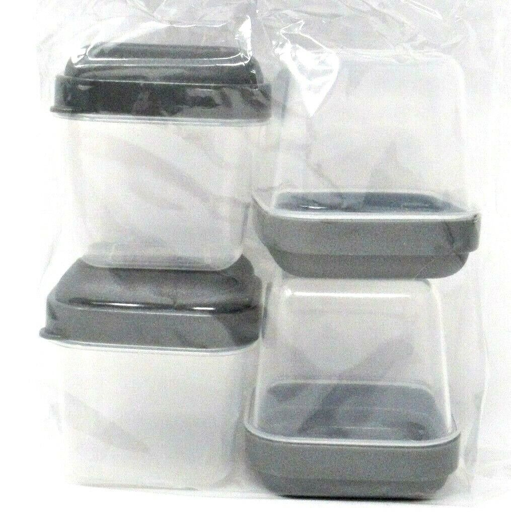 Square Container, With Lid, 4-Pack, 3.6 fl oz, small, food,