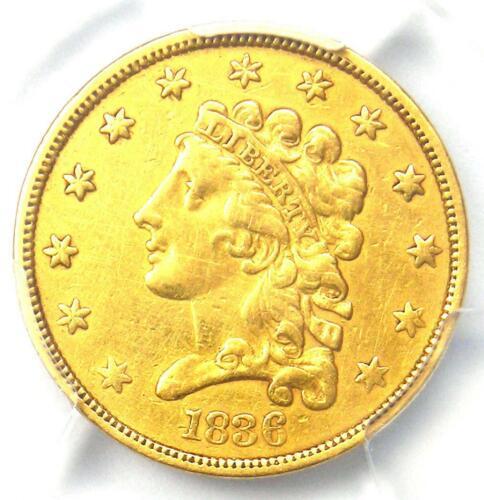 1836 Classic Gold Quarter Eagle $2.50 - PCGS XF Details (EF) - Rare Coin!