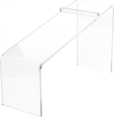 Plymor Clear Acrylic Elevated Heel Shoe Display Riser 3 W X 9d X 5h 2 Pack