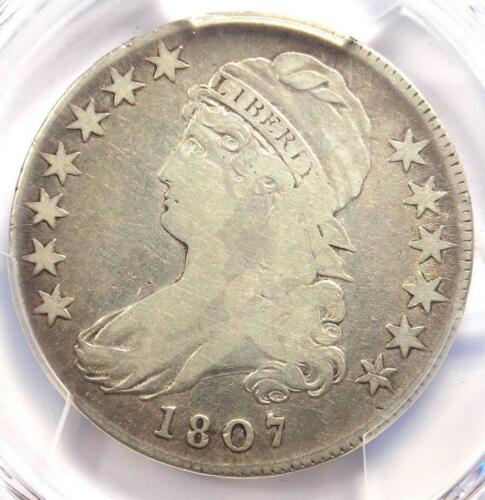 1807 Capped Bust Half Dollar 50C Coin 50/20 - PCGS Fine Details - Rare Coin!