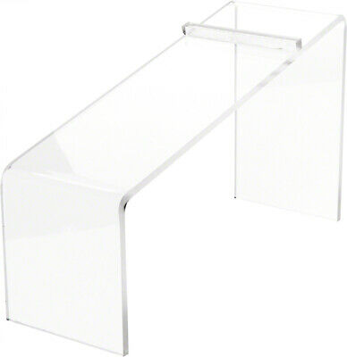 Plymor Clear Acrylic Elevated Heel Shoe Display Riser 3 W X 9d X 5h 3 Pack
