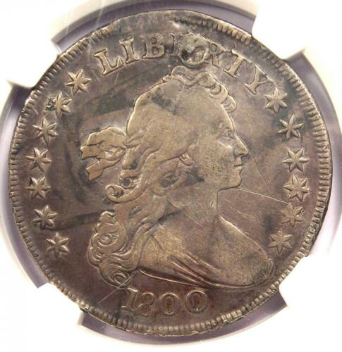 1800 Draped Bust Silver Dollar $1. Certified NGC VF Detail (Plugged) - Rare Coin
