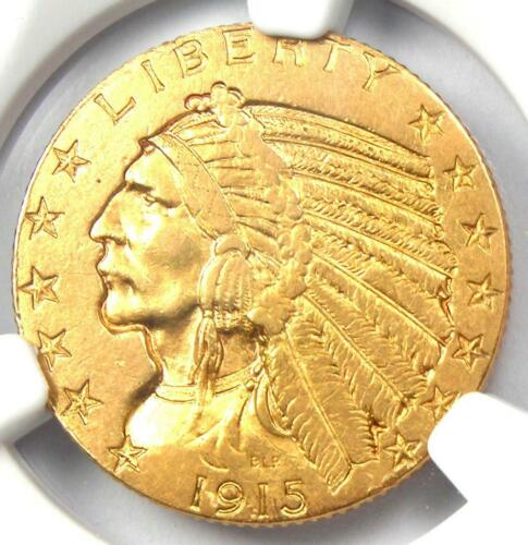 1915 Indian Gold Half Eagle $5 Coin - Certified NGC AU Details - Rare Coin!